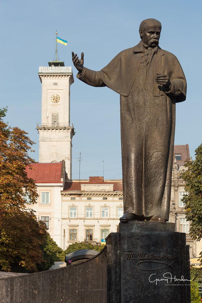 Sevcenko Denkmal - Rathaus