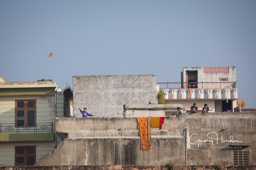 fly a kite - Udaipur